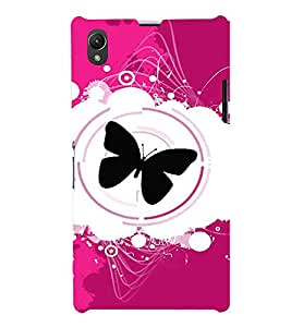 FIOBS Butterfly Abstract Designer Back Case Cover for Sony Xperia Z1 :: Sony Xperia Z1 L39h :: Sony Xperia Z1 C6902/L39h :: Sony Xperia Z1 C6903 :: Sony Xperia Z1 C6906 :: Sony Xperia Z1 C6943