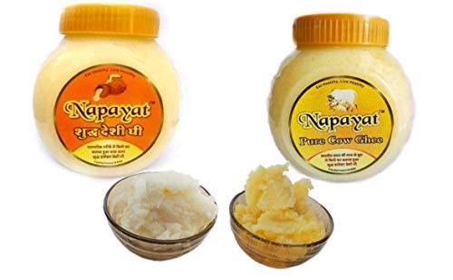 Napayat Pure Buffalo's Curd Churned Danedar Bilona Desi Ghee 500ml jar