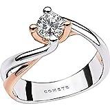 c76408bd06 Comete Anello in Oro 750 ‰ Impreziosito da Un Diamante Centrale con Punto  di Caratura 15