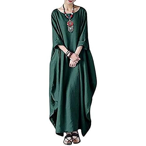 cd2142030b Vestido Tallas Grandes Mujer Verano Elegante Asimetricos Ves