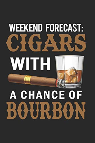 Weekend Forecast: Cigars With A Chance Of Bourbon: Cigar Journal Blank Lined Notebook