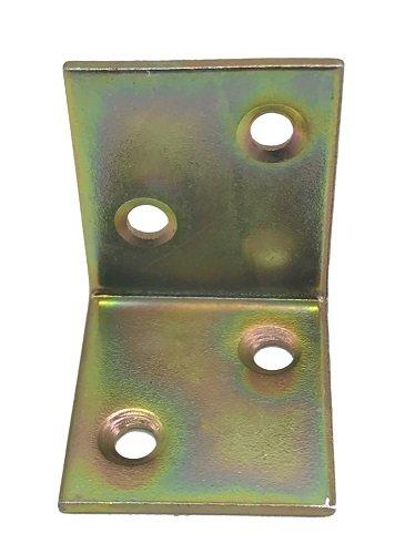 10 Winkelverbinder, Bauwinkel, 30 mm x 30 mm x 25 mm x 1,5 mm, G, verzinkt