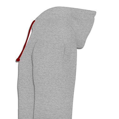 Evolution - Yoga Evolution - Kontrast Hoodie Grau Meliert/Rot