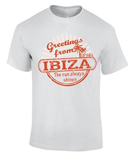 greetings from ibiza T-Shirt Herren Weiß