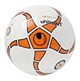 Uhlsport Futsal - Pallone Medusa Anteo 290 Ultra Lite, Bianco (Weiß/fl.or./anthramet/Sch), 4