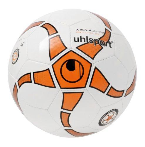 uhlsport Fußball Medusa Anteo 290 Ultra Lite, Weiß/Fl.Or./Anthramet/Sch, 4, 100152601
