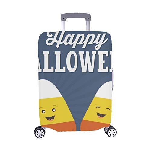 (Nur abdecken) Happy Halloween Süßigkeiten Mais Cartoon Candy Staubschutz Trolley Protector case Reisegepäck Beschützer Koffer Abdeckung 28,5 X 20,5 Zoll