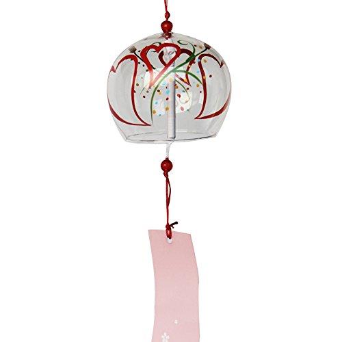 Handpaint Cristal Arte japonés Furin Wind Chimes campanas cumpleaños regalo boda de Navidad Hogar Cocina Oficina SPA jardín Patio Decors