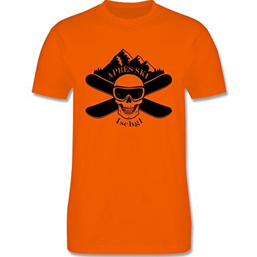 Après Ski - Apres Ski Ischgl Totenkopf - Herren Premium T-Shirt Orange