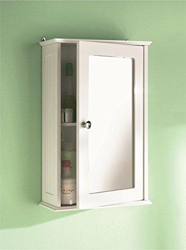 Parte superior Home Solutions sola puerta armario de baño con espejo con estante