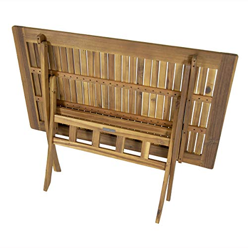 Charles Bentley FSC Acacia Hardwood 5pc Garden Furniture Set