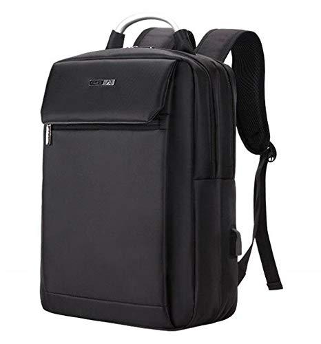 Laptop Rucksack,Einbruchhemmender Reiserucksack Große Kapazität Business-Freizeit-Notebook-Rucksack USB-Umhängetasche Laden, Schwarz Daypack Schulrucksack Backpack