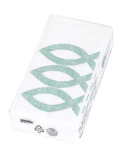 Papiertaschentücher bedruckt mit grünen Fischen