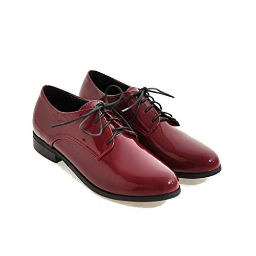 Mocasines De Mujer Zapatos De Cuero Oxford Negro Elegante