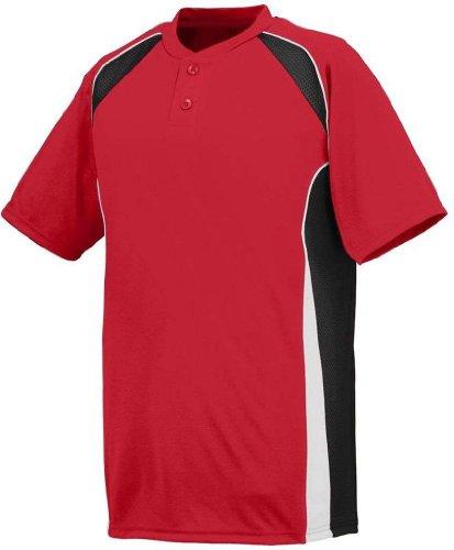 Augusta Herren T-Shirt Rot/Schwarz/Weiß