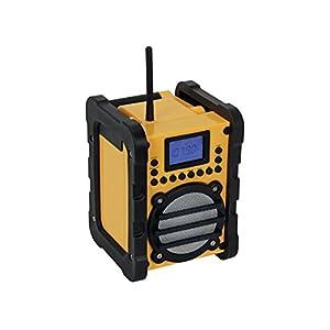 Perel WR25207 Portátil Digital Negro, Amarillo – Radio (Portátil, Digital, FM,PLL, 7 W, LCD, Negro, Amarillo)