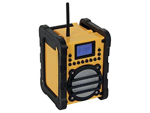 Perel WR25207 Portátil Digital Negro, Amarillo - Radio (Portátil, Digital, FM,PLL, 7 W, LCD, Negro, Amarillo)