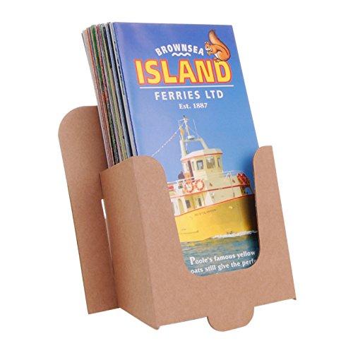 stand-store card-dl Spender für DL/A6/Tri-Fold Prospekte und Broschüren–Braun (50Stück)