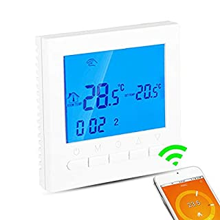 Digital Thermostat, Programmable Active Heating and Hot Water Thermostat or WiFi Wireless Heating Thermostat, LCD Screen App Control Thermostat