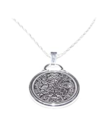 Fancy Pendant 1944 Lucky sixpence 75th Birthday Sterling Silver 18in Chain