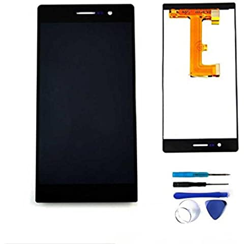 PANTALLA COMPLETA (LCD + Panel táctil) para Huawei Ascend P7 - Negro