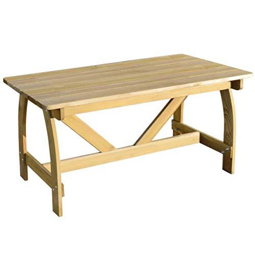 binzhoueushopping Table de Jardin en Bois de pin imprégné Haute qualité 150 x 74 x 75 cm (L x P x H) Ajouter Une Touche de Charme