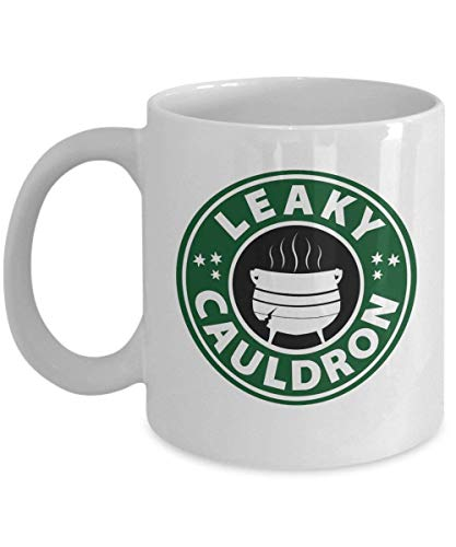Leaky Cauldron Starbucks Logo Coffee Mug Cup (White) 11oz Harry Potter Movie Gifts Merchandise Shirt Decal Poster Party Office Supplies