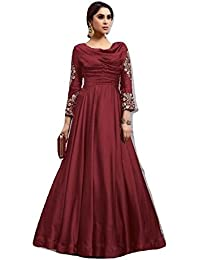 Clickedia Women's Zari & Resham Embroidery with Stone and Moti Work Salwar Suit fancy