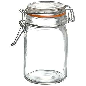 Promobo - Bocal Pot En Verre Hermétique Anneau En Silicone Idéal Yaourt Confiture 80ml