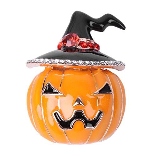 Brooch Pin, Vintage Women Pumpkin Hat Brooch Pin Halloween Thanksgiving Jewelry Gift (Wolf Pics Halloween)