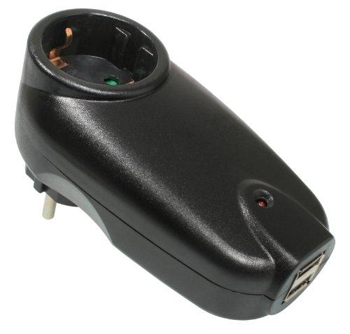 Preisvergleich Produktbild as - Schwabe 18210 USB-Ladeadapter mit Schutzkontakt-Steckdose,  mit Kinderschutz,  IP20 Innenbereich