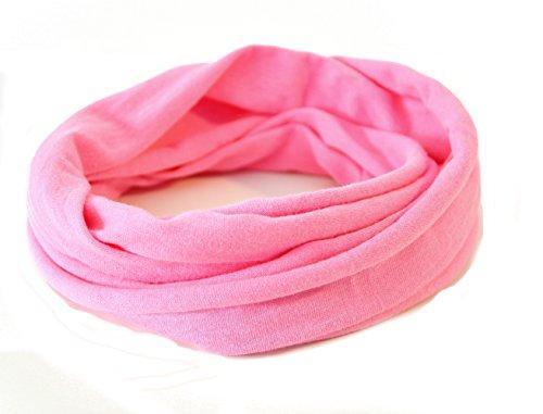 Andrea Traub - FASHION Kleinkinder und Baby - Loop zweifach gewickelt, uni rosa pink, Kids Schlauchschal, Schal Tuch für Mädchen und Jungen