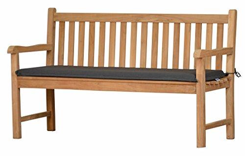 Bankauflage Sitzus aus lichtechtem Dralon – 110 x 40cm, anthrazit grau ✓ Waschbar ✓