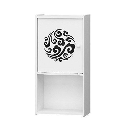 DUHUI Badezimmer-Wand-panoramische Speicher-Kabinette Badezimmer-Regale (größe : - Holz-speicher-kabinette