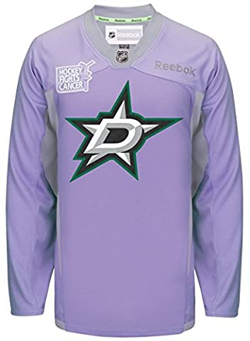 Dallas Stars Reebok NHL Hockey Fights Cancer Practice Men's Jersey Maillot