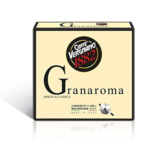 Caffe\' Vergnano 1882 Gran Aroma gr 2x250 - Pacco da 8 x 500 gr - Totale: 4000 gr