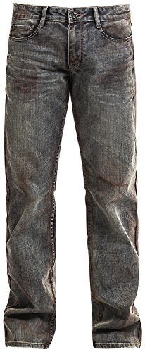 Rock Rebel by EMP Johnny Sprayed (Boot-Cut) Jeans blu W31L34