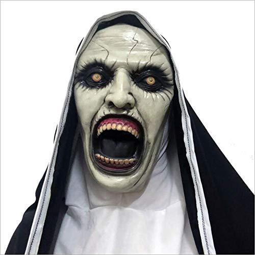 Maske Halloween Hockey Kostüm - ZhiWei Halloween Maske Horror Scary Vollkopf Maske Cosplay Kostüm Latex Maske für Erwachsene Party Dekoration Requisiten,B