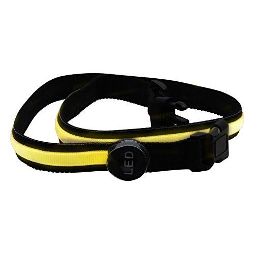 JMENG 3 Watt 78 cm Gelbe LED Blinkt Bund Sicherheit Reflektierende Gürtel Bund Fahrrad Laufen Hand Zubehör Trainingsanzug 1 STÜCKE. Festival Lichter -