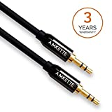 Amkette Auxiliary(AUX) audio cable with 3.5mm gold plated jack for speakers, cars etc