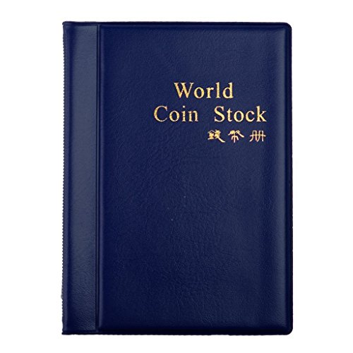 Sammlung Penny Buch (Kcopo Münzenhalter Münzen Sammlung Lagerung Album 120 Taschen Speicher Muenzenalbum Idea Buch Für Sammler Geld Penny Pocket Blau)