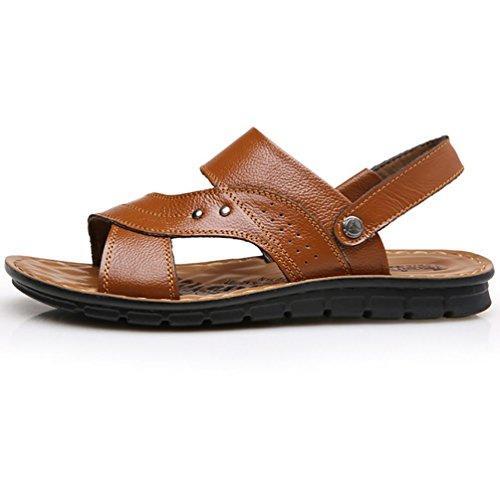 SHANGXIAN Scarpe nuovo stile vendita calda allaperto Casual Comfort cuoio spiaggia sandali uomo marrone nero 38
