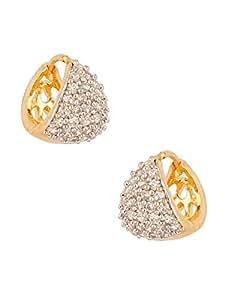Youbella Gold Plated Bali Hoop Earrings For Women