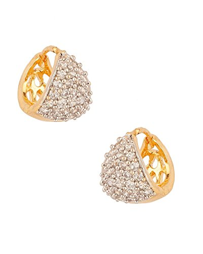 Youbella Gold Plated Bali Hoop Earrings For Women