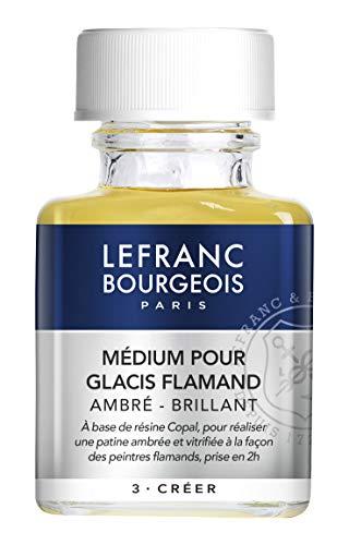 LEFRANC BOURGEOIS 300035 Additif Medium pour Glacis Flamand Ambre-Brillant 75 ml