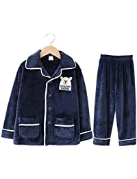 HUACANG Pijamas Juveniles Infantiles. Tela De Vellón Coral Especificaciones Ricas Diseño De Moda Traje De
