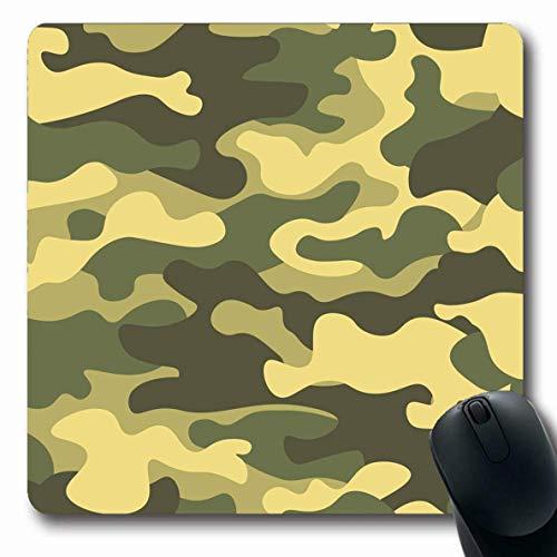 Mousepads Force Green Zusammenfassung Camouflage Pattern Khaki Armee Camo Canvas Farbe Combat Soldier Längliche Form rutschfeste Gaming Mouse Pad Gummi Längliche Matte,Gummimatte 11,8