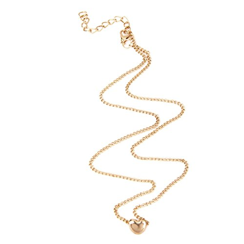 Generic Tiny Elegant Small Gold Love Heart Cute Necklace Set For Girls