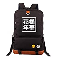 ASDFNF Backpack, Student School Casual Men And Women Knapsack Nylon Travel Package Large Capacity Computer Bag (Color : Black)