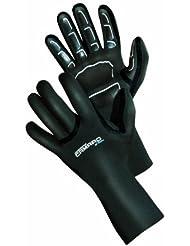 Camaro Seamless - Guantes de buceo para hombre (1 mm) negro negro Talla:XL/XXL